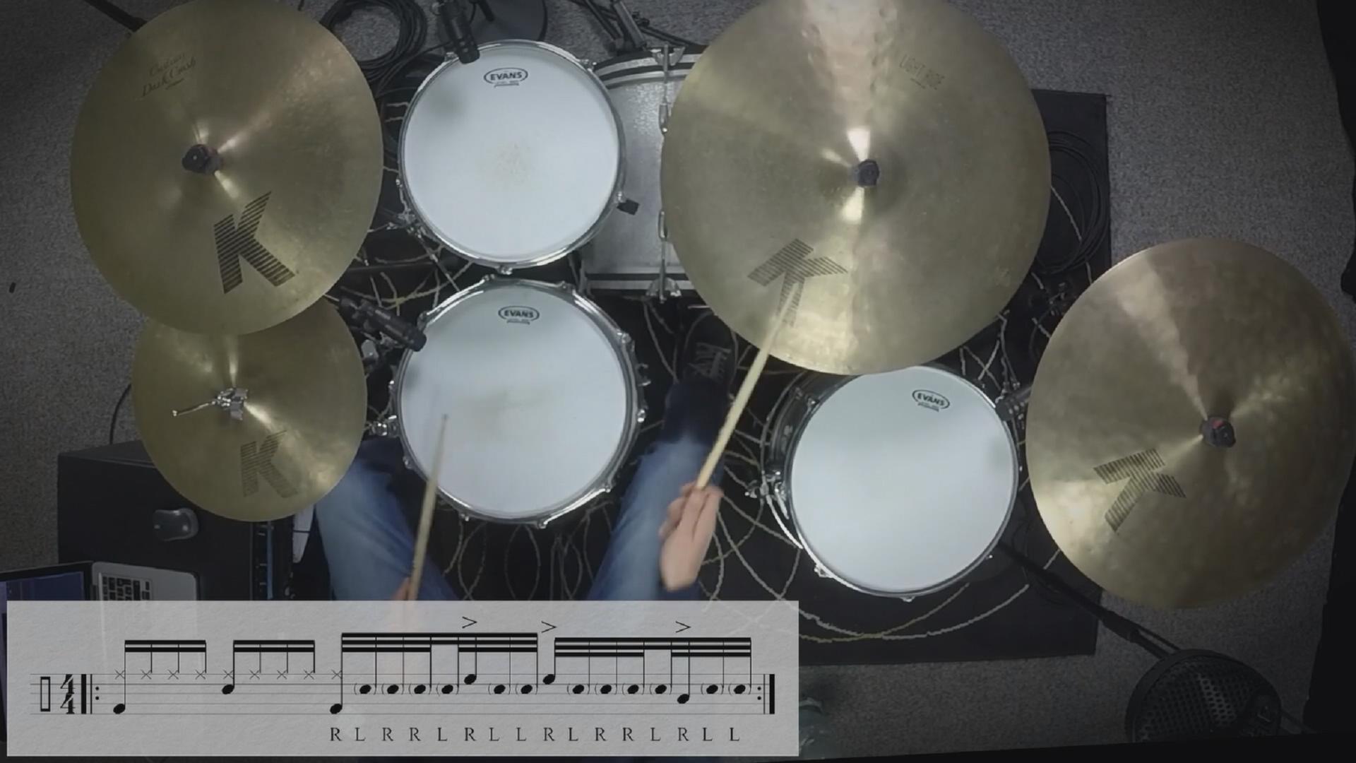 32分音符复合跳填充练习视频(含高清鼓谱)