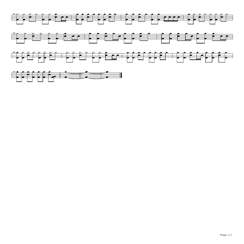 21guns鼓谱