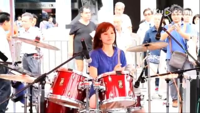 曼青架子鼓三天三夜演奏视频