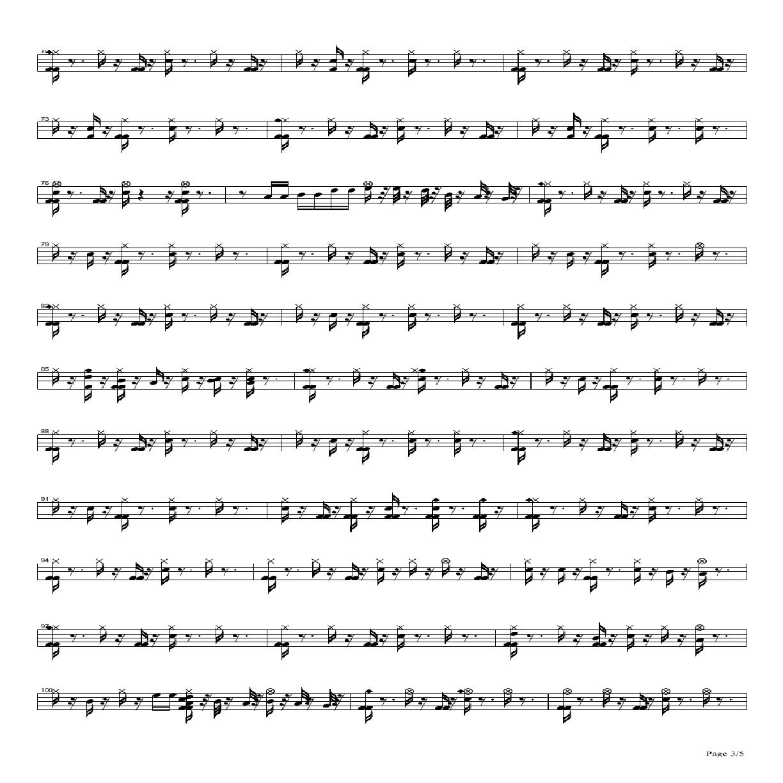 Lydia架子鼓谱3