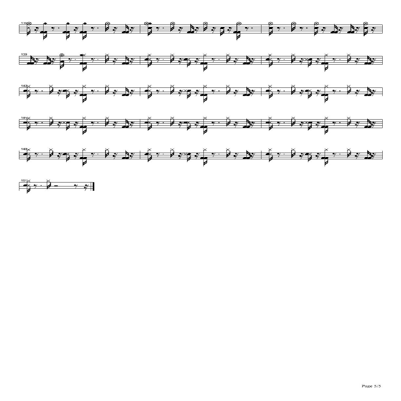 Lydia架子鼓谱5