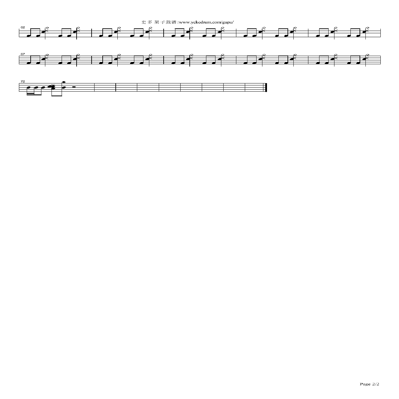 二十世纪少年鼓谱