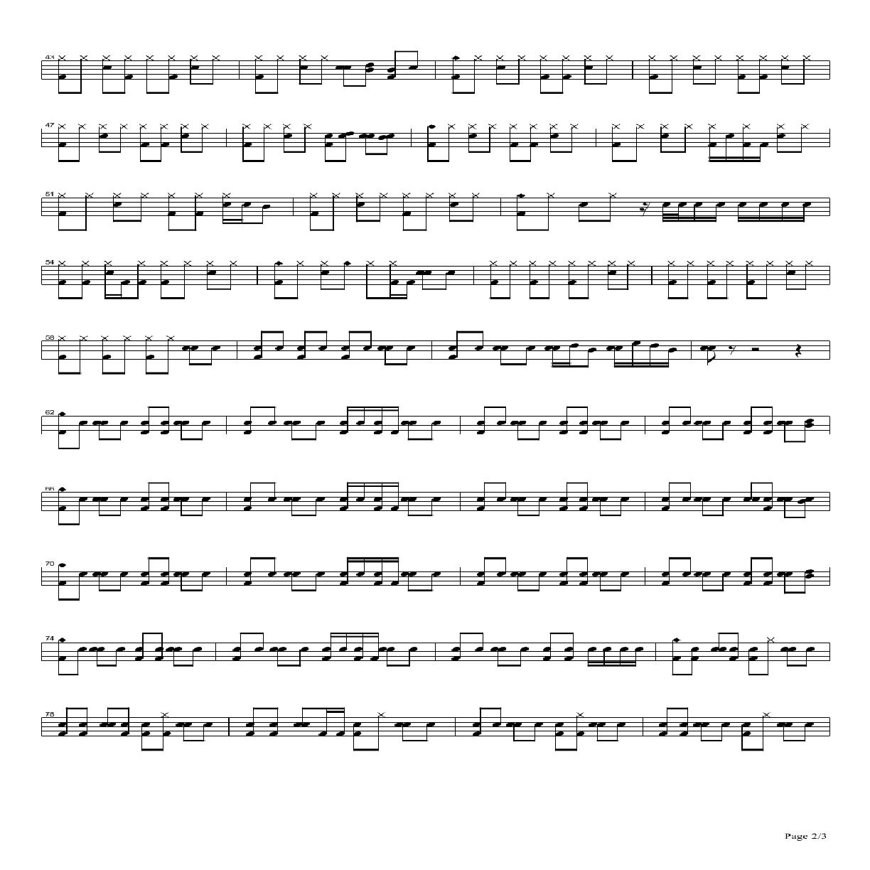 aradise架子鼓谱pdf清晰版打包下载地址:   beyond歌曲Paradise在线